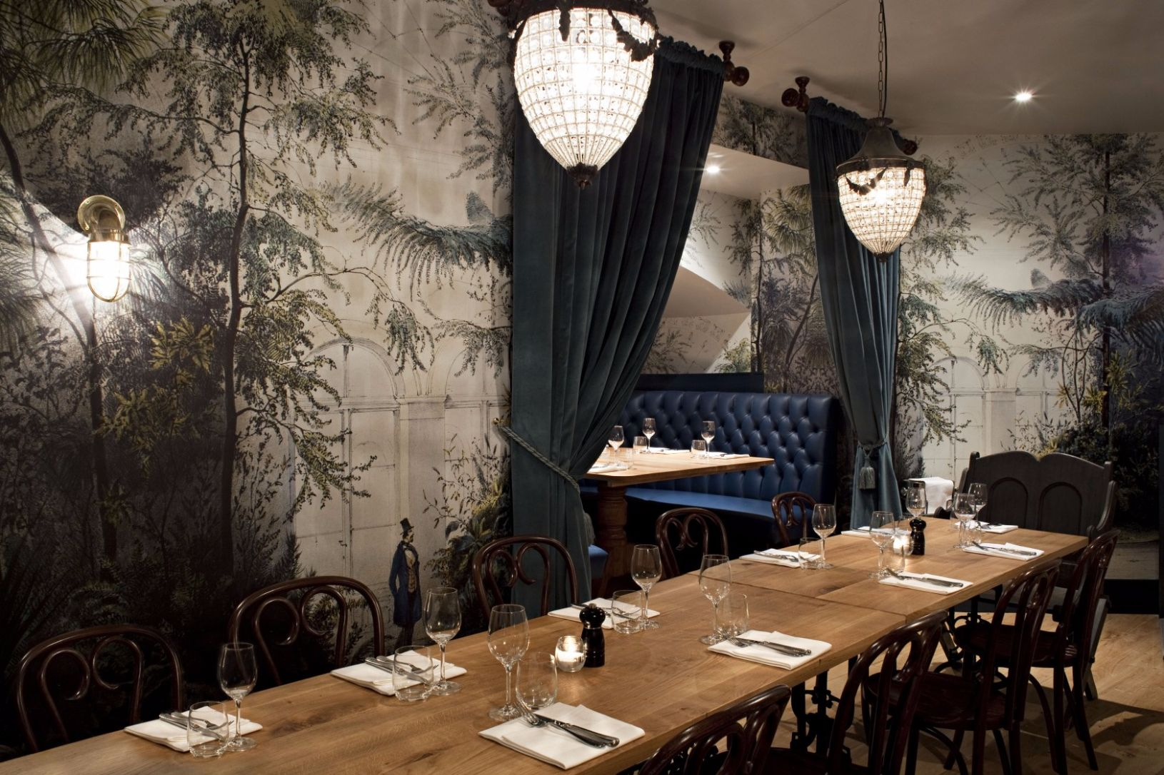 This spooky semi-private dining room in Chelsea is perfect for a fiendishly good Halloween feast.