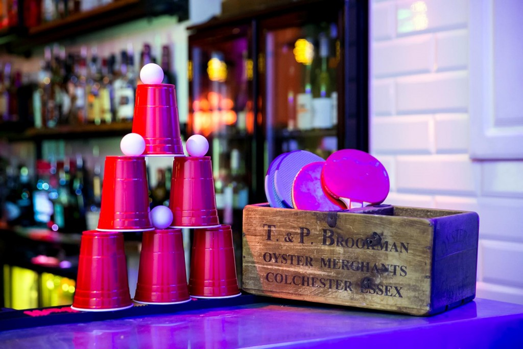 Blueberry Bar is one of our favourite London venues for your birthday party. Beer pong included!