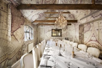 The Chef's Private Dining Room at Mews of Mayfair is ideal for a bon voyage party.