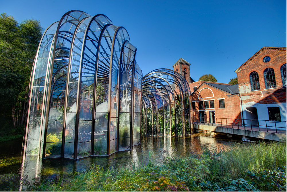 British designer Thomas Heatherwick was commissioned to transform a former paper mill in beautiful rural Hampshire into a gin mecca