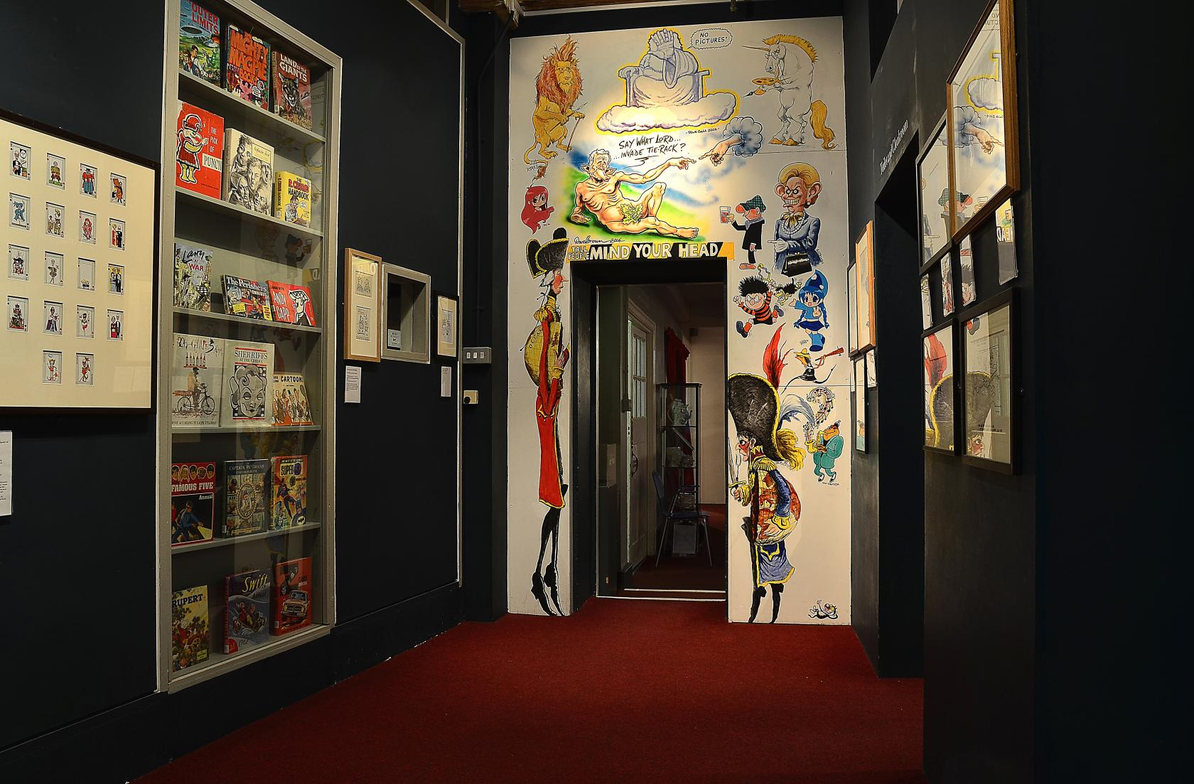 The museum exhibits original artwork from some of the biggest names in cartooning, as well as rare comic items from The Dandy, Eagle and 2000 AD.