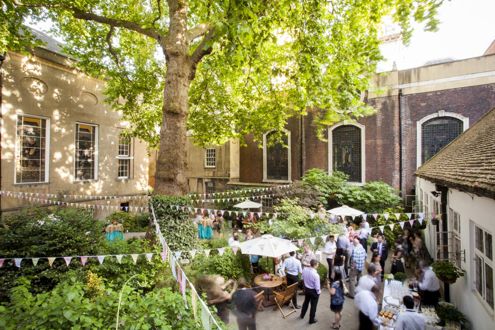 Stationers Hall boasts a secluded private garden – a rare treat in central London.