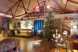 This eclectic loft space with its exposed brick walls and boho touches will liven up your south London Christmas party.