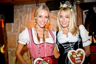 What better way to celebrate Oktoberfest than tucking into mountains of pretzels and deliciously gooey fondue, while dirndl-clad waitresses serve you huge mugs of foamy beer?