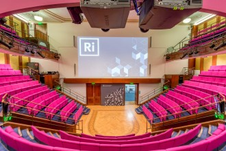 The Royal Institution's 400-seat theatre is familiar to those who watch the Ri Christmas Lectures.