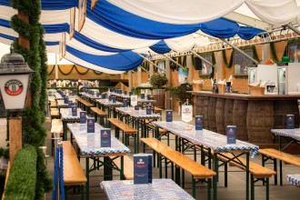 If you're on the lookout for a truly Bavarian tent in London, Erdinger Oktoberfest is just what you need!