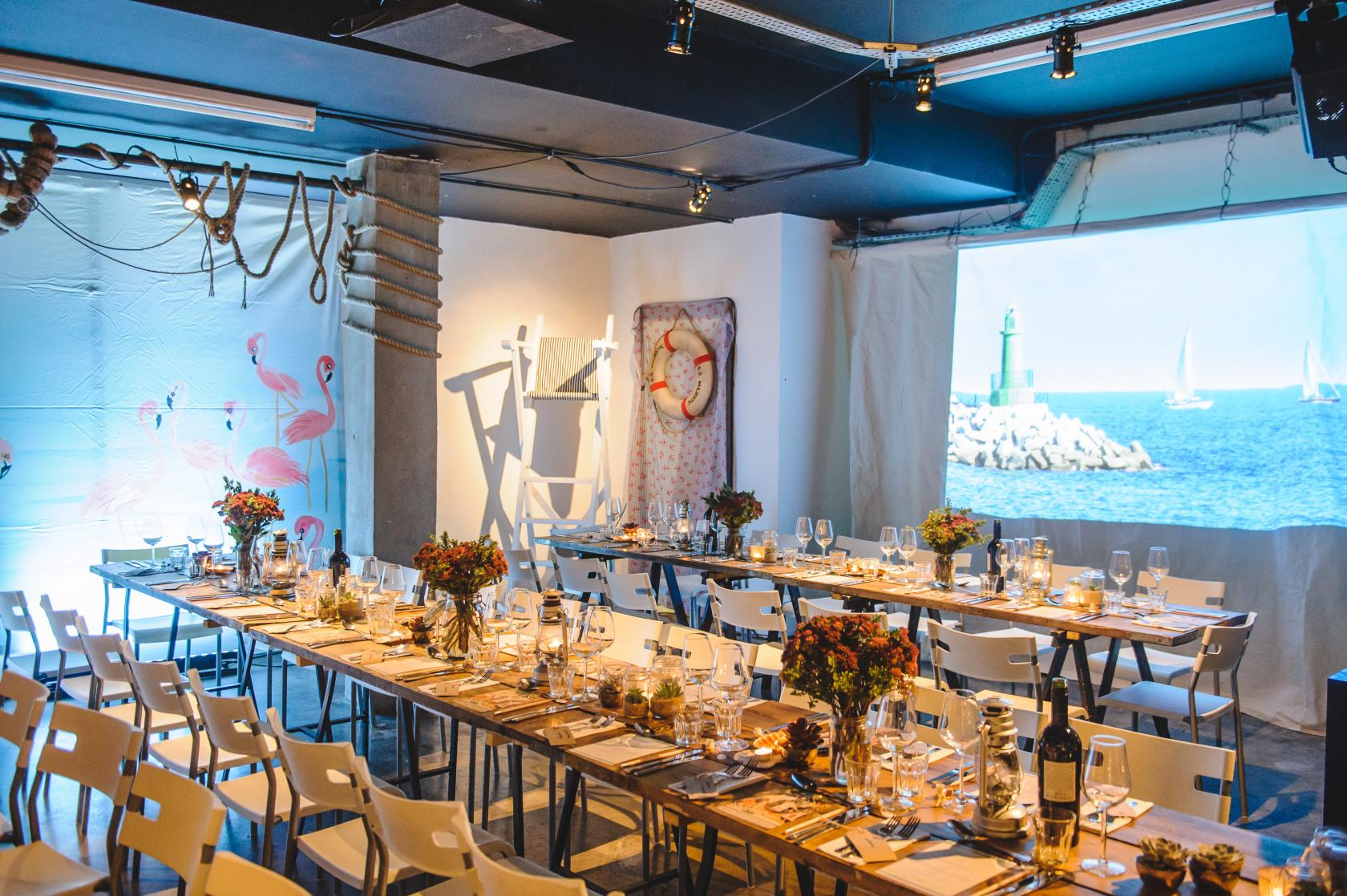 Kitted out with a professional kitchen, pop-up bar and flexible lighting rig, there's no better place than Carousel for your next supper club.
