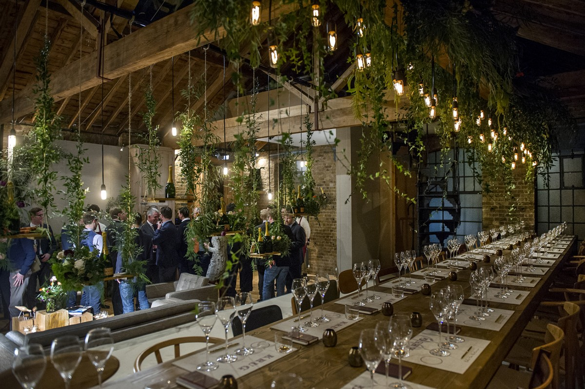 High-pitched roofs, exposed pine trusses and original windows make this light-filled space fantastic for intimate dinner parties as well as lively supper clubs of up to 100.