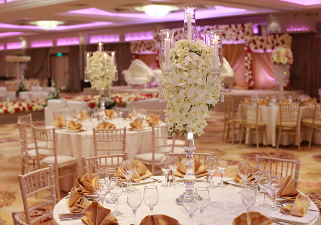 The Grand Ballroom at Grand Sapphire Hotel & Banqueting is one of London's largest wedding venues.