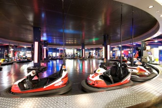 Looking for an off-site event idea? Namco Funscape is the perfect venue with bumper cars and other fun features for your entertainment.