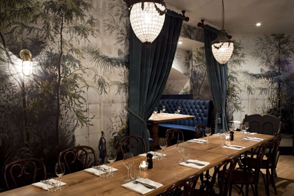 The Crypt at GOAT is a semi-private dining room.
