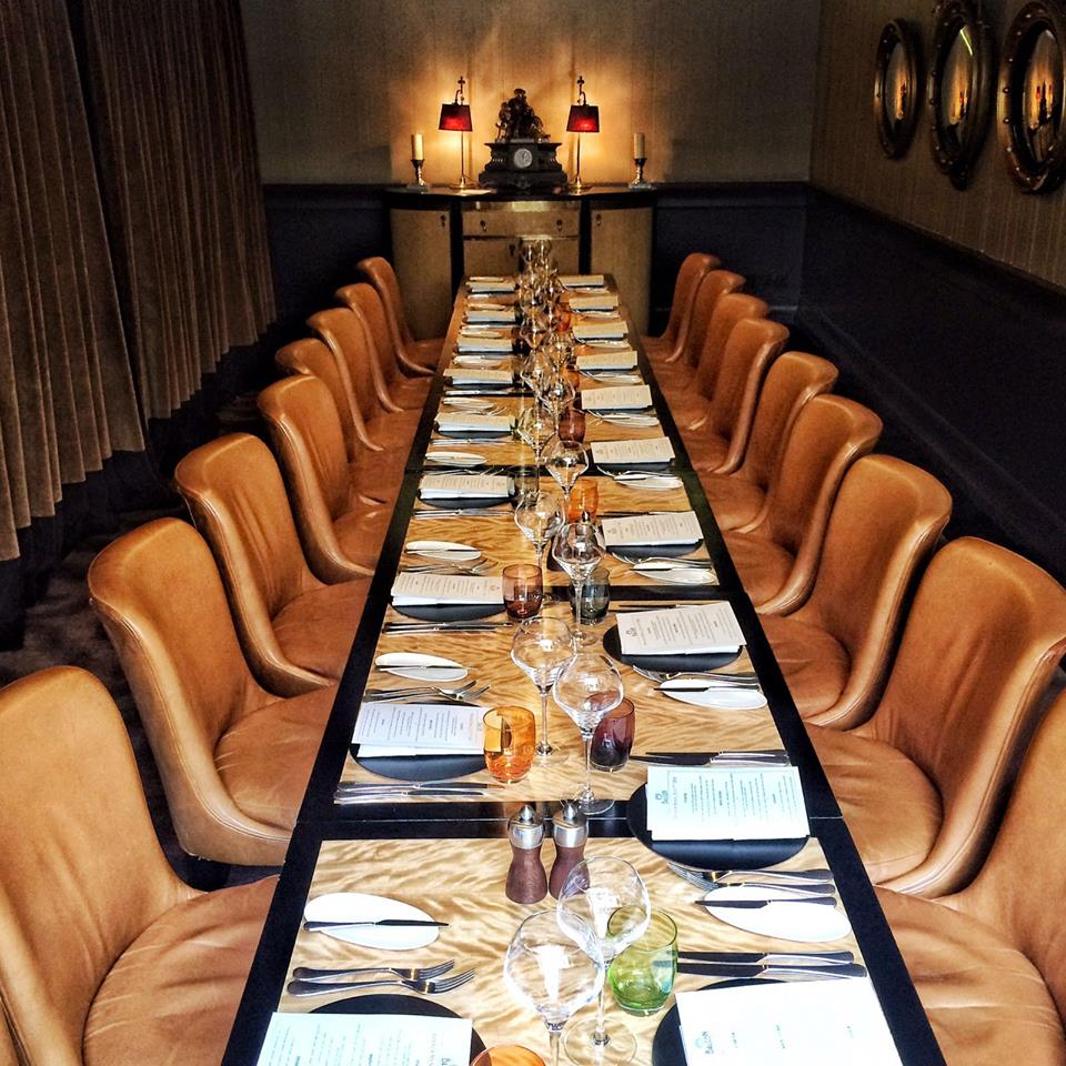 This private dining room at the Balcon is a popular Covent Garden venue hire option.