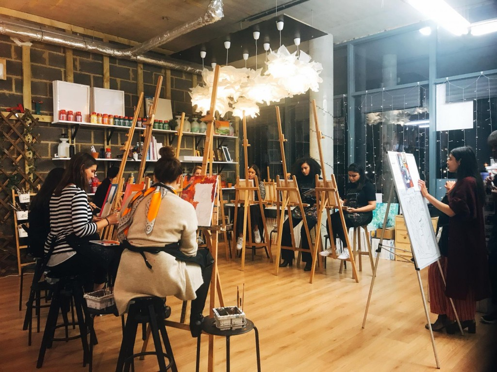 Unleash your creativity at a painting party at Studio 239 near Bethnal Green Station.