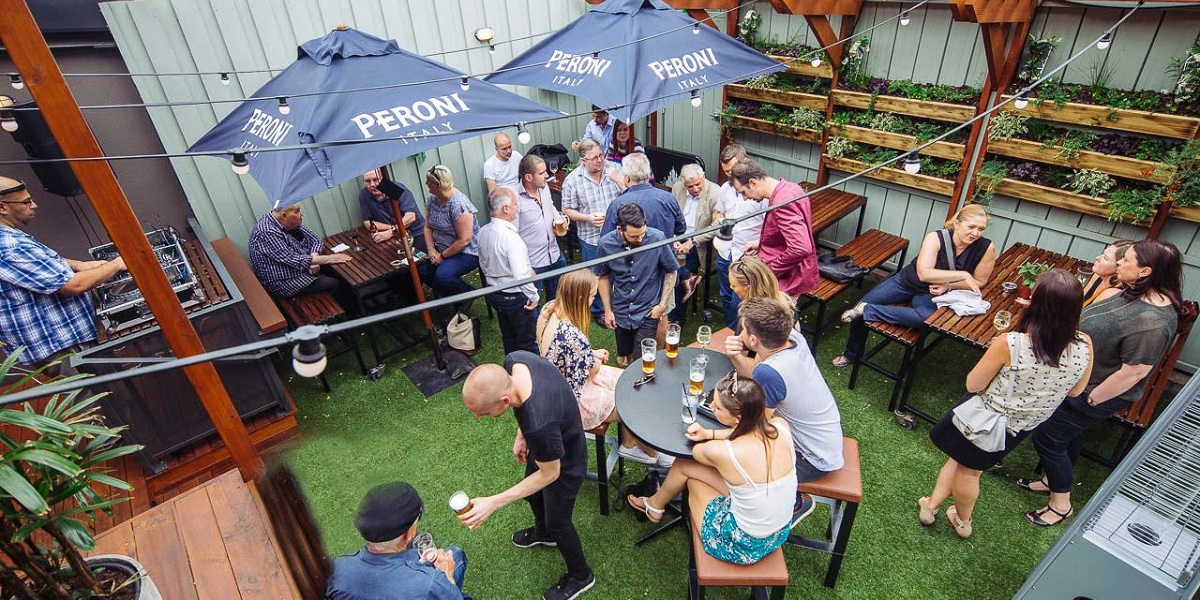 Beer Garden at Temperance Hotel is a great place for an outdoor party with your team