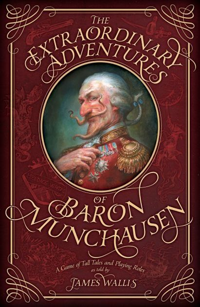 illustration of baron munchausen from the game