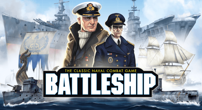 title screen of battleship game