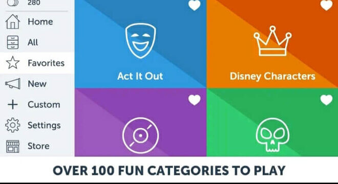 choose a category from charades app