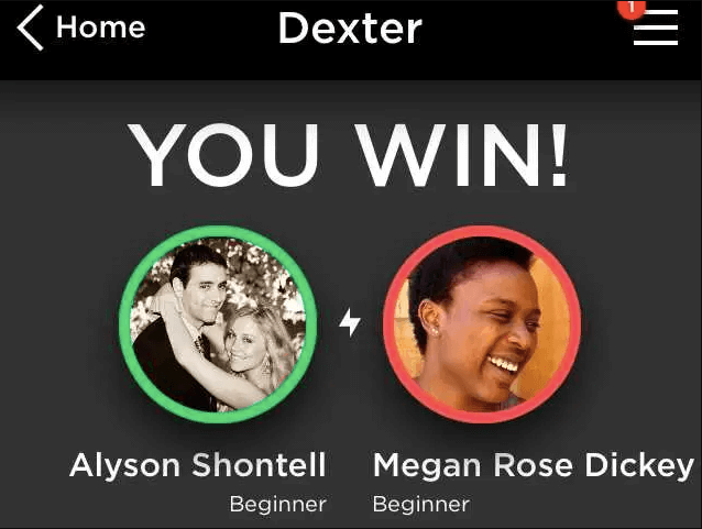 results screen from quizup mobile app