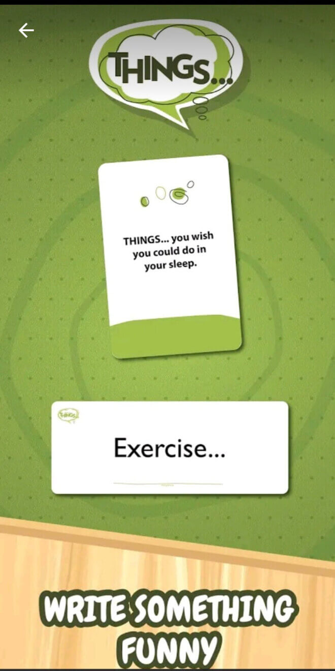 screen from online app of game of things